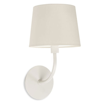Antique White Wall Light with Beige Shade